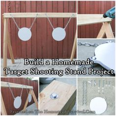 The Homestead Survival | Build a Homemade Target Shooting Stand Project | DIY Project - Homesteading - Hunting - SHTF - Shooting Practice - http://thehomesteadsurvival.com