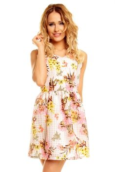 Super seje Blomstret Kjole  Alle kjoler til Damer til hverdag og til fest
