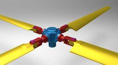 RC helicopter rotor assembly - STEP / IGES, SOLIDWORKS - 3D CAD model - GrabCAD