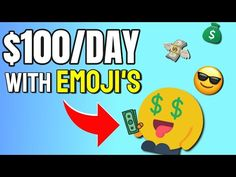 Make $100 Per Day Selling Emoji's! 😎💰 How to make money online in 2020 - YouTube Make Money Online, How To Make Money, Emoji, The 100, Tech, Day, Youtube, Earn Money Online, Tecnologia
