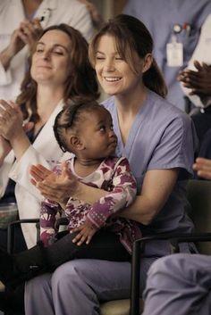 Meredith and Zola Together on Grey's Anatomy Season 8, Episode 11