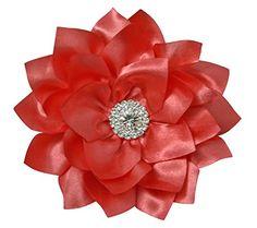 Silk Peony Flower Handcrafted Hair Clip Rhinestone Bridal Bridesmaid Flower Girl Hair Accessory (4.0 inch, Coral) Cleo Classic Designs http://www.amazon.com/dp/B019A1NVZ0/ref=cm_sw_r_pi_dp_QQgBwb1FTVV5H