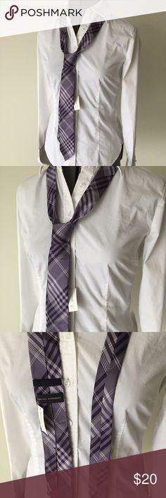 "NWTs! Banana Republic Purple Plaid Tie NWTs! Banana Republic Purple Plaid Tie. It's 59"" long and 2.5"" across bottom. 100% silk. In store it's $59.50. MC/101916 Banana Republic Accessories Ties"