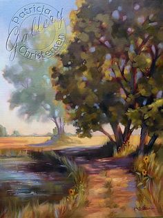 Colorado Country Lane - Oil on Canvas by Patricia Christensen - Available at Odgen Arts Gallery month of May, 2012.