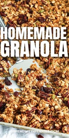 Best Granola, Healthy Granola Bars, Healthy Homemade Granola, Easy Snacks, Healthy Snacks, Healthy Eating, Healthy Recipes, How To Make Granola, Making Granola