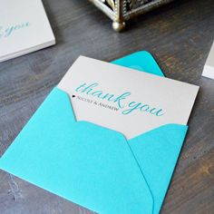 """""""Thank you notes should be simple, so your written message is heartfelt."""" Advice from our PAPER & LACE wedding planning team"""