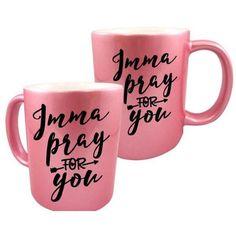 Funny Mugs, Gift for her, Christian Mug, Funny Christian Mug, Christmas Gift Idea, Co worker Gift, Religious Mug, Coffee Mug, Pink Mugs