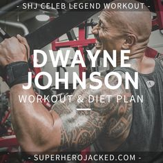 """Dwayne """"The Rock"""" Johnson's Workout Routine and Diet: How the Sexiest Man Alive Trains to be Superhero Jacked! The Rock Workout Routine, Workout Diet Plan, Workout Warm Up, Gym Routine, Strength Training Workouts, Workout Plans, Bodybuilding Routines, Bodybuilding Workouts, The Rock Dwayne Johnson"""