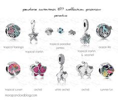 Pandora Summer 2017 Tropical Paradise charms