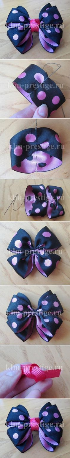 DIY Easy Double Bow purple bow polka dots diy easy crafts diy ideas diy crafts do it yourself easy diy diy tips diy images do it yourself images diy photos diy pics easy diy craft ideas diy tutorial diy tutorials diy tutorial idea diy tutorial ideas purple bow