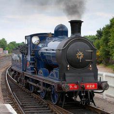 Caledonian Railway Class 812 No. An immaculate No. fresh from overhaul, runs round at Aviemore on the Strathspey Railway. Uk Rail, Durham Museum, Steam Art, Old Steam Train, Old Wagons, Steam Railway, Railway Museum, Railroad Photography, British Rail