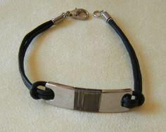 bracciale uomo con cordino e acciaio, by crys e cry, 7,00 € su misshobby.com