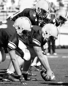 American Football, Offensive Linemen, Concept: Move Forward, Hike the Ball Black and white photo - stock photo College Football Betting, Sports Betting, Football Wall, Football Helmets, Black And White Football, Wake Forest Demon Deacons, Sports Predictions, Image 3d, Action Images