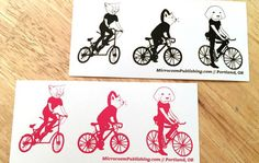 13 Awesome Bumper Stickers for Cyclists Cool Bumper Stickers, Dog Cat, Bicycle, Cats, Gatos, Bicycle Kick, Kitty Cats, Bike, Cat Breeds
