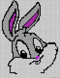 Bugs Bunny Toon perler bead pattern
