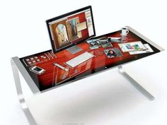 Technik-Traum: Der Schreibtisch der Zukunft als XXL-iPad