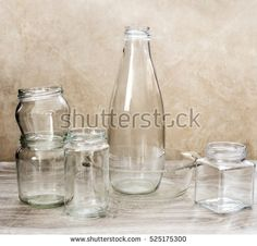 recycling glass bottle and jar