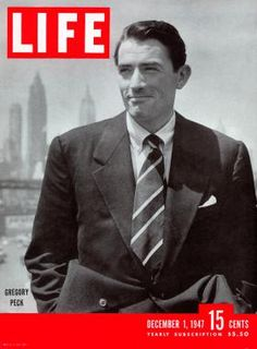 December 1, 1947 cover of LIFE magazine with Gregory Peck.