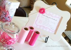 Have your guests make hair bows for baby at the baby shower. Such a cute and fun idea! Crossing my fingers and hoping someone has a baby girl this year!