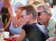 David Bowie snapped by Patrick Lichfield in Mustique
