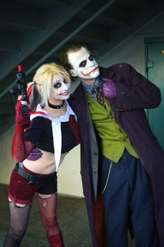 Harley Quinn and The Joker, photo by Mikedulas.