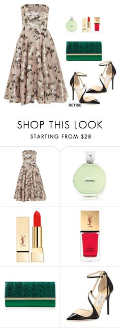 """""""LOVE...... FLOWERS """" by betty-sanga ❤ liked on Polyvore featuring Alexander McQueen, Chanel, PUR, Yves Saint Laurent, Diane Von Furstenberg and Jimmy Choo"""