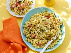 Get Pasta Salad with Lemon-Pesto Dressing Recipe from Food Network