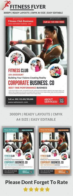 Buy Fitness Flyer by afjamaal on GraphicRiver. This flyer is made in photoshop the files included are help file and photoshop psd's. Template Flyer, Brochure Template, Fitness Flyer, Fitness Logo, Design Poster, Flyer Design, Design Design, Graphic Design, Fitness Design