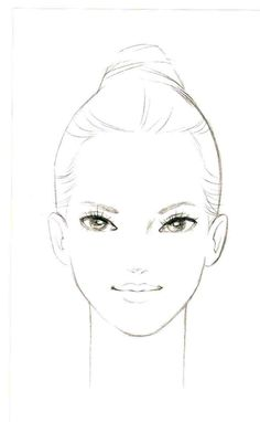 makeup techniques for Face Symmetry, Fashion Illustration Face, Face Stencils, Realistic Cartoons, Female Face Drawing, Face Painting Tips, Makeup Face Charts, Eye Drawing Tutorials, Face Sketch