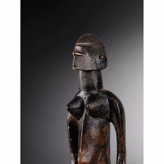 Très belle statue féminine, Bamana, Mali haut. 47 cm  Ancienne collection Charles Ratton, Paris