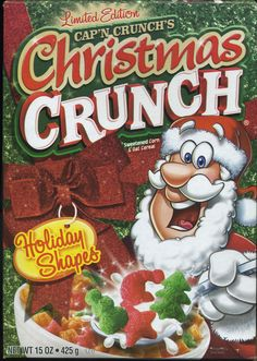 2010 Christmas Crunch © The Quaker Oats Company – Top Of The World Oat Cereal, Crunch Cereal, Breakfast Cereal, Cereal Bowls, Cap'n Crunch, 80s Food, Christmas Crunch, Types Of Cereal, Cereal Killer