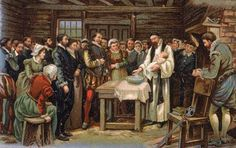 On Aug. 18, 1587, Virginia Dare became the first child of English parents to be born on American soil, on what is now Roanoke Island, N.C.  She was given the name Virginia because she was the first Christian born in Virginia.  Her father was Ananias Dare. Her mother, Ellinor (Eleanor, or Elyonor) White Dare, was the daughter of the Roanoke colony governor, John White. The Dares were among the approximately 120 settlers who left England on May 8, 1587.