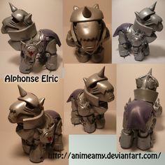 Alphonse Elric Pony by ~AnimeAmy on deviantART