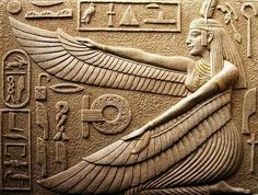 Immagine di ancient, goddess, and egypt Ancient Egypt Art, Ancient Artifacts, Ancient Aliens, Ancient History, Ancient Greece, Egyptian Mythology, Egyptian Goddess, Egyptian Art, Maat Goddess