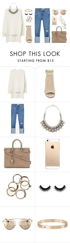 """Untitled #265"" by sophiatsunis on Polyvore featuring MANGO, Sam Edelman, Zara, Valentino, Yves Saint Laurent, Christian Dior, Cartier and Pier 1 Imports"