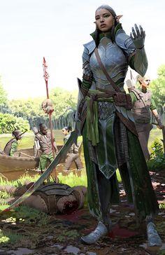 Elven shock troopers by Simon Gocal
