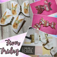 Fiver Friday flash sale Easter bows Easter gifts Easter
