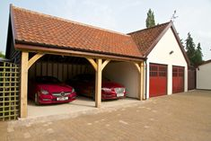 Beautiful Cart Lodge And Garage Construction   Classic Suffolk Timberframes