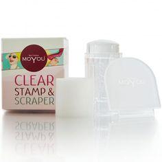 Clear Stamp & Scraper - With Magic Sponge