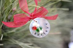Hand Stamped Christmas Ornament Tutorial