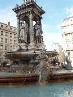 Jacobins Fountain near Bellecour in Lyon, France. Turns out this is the fountain I spent time with my french love... Je n'oublierai jamais.