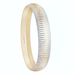 The gold made bangle with diamond embedded all over.