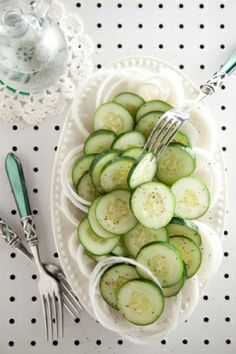 Sliced Onions & Cucumbers