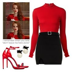 Love this look—as long as the sweater is not baggy and is completely fitted in the waist. The worst is when the sweater is too long and the skirt looses its definition and fit. Tv Show Outfits, Komplette Outfits, Cool Outfits, Fashion Outfits, Outfits Riverdale, Riverdale Fashion, Cheryl Blossom Riverdale, Riverdale Cheryl, Fashion Tv