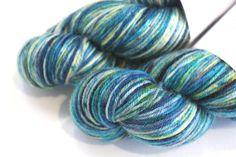 Sport - 100% British Bluefaced Leicester (superwash) yarn (Lagoon) by OxfordKitchenYarns