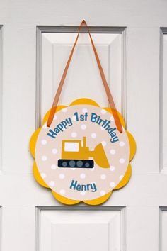 Construction Door Sign Birthday Party