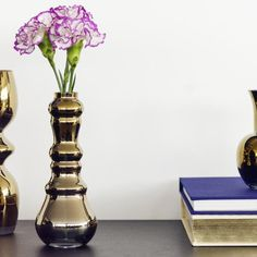 Lifestyle Home Collection - Vase Aemy gold - www.theroomers.com - 1