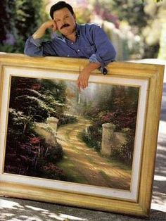 Rip Painter Of Light, Thomas Kinkade has died. You touçhed our hearts. Thomas Kinkade Art, Kinkade Paintings, Thomas Kincaid, Art Thomas, Art Store, Beautiful Paintings, Beautiful World, Great Artists, Amazing Art