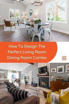 Don't know how to design a living room dining room combo that looks cohesive and beautiful? Try our living room dining room combo ideas and interior decor strategies to achieve the perfect living space furniture arrangement. Dining Room Colors, Dining Room Wall Decor, Paint Colors For Living Room, Room Decor, Living Spaces Furniture, Space Furniture, Classic Living Room, Cozy Living Rooms, Living Room Arrangements