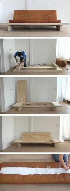 Shed Plans - In this DIY tutorial you can learn how to build your own modern plywood couch with built-in side tables and an upholstered leather seat cushion. The instructions are detailed and comprehensive, with the finished product being a functional and easy to move modern sofa. Now You Can Build ANY Shed In A Weekend Even If You've Zero Woodworking Experience!